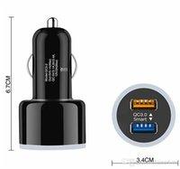 2020 جديد USB تهمة شاحن سيارة السريع 3.0 سيارة شاحن محول USB مزدوجة السيارة للiphoneX 8 7Samsung S9 S9 زائد الهواتف العالمية
