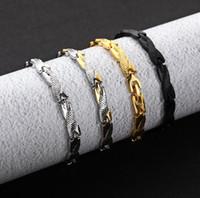 di vendita calda di vendita diretta al titanio camera in acciaio bracciale in oro gioielli drago grano 7 millimetri di larghezza di fabbrica uomini e donne