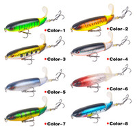 140mm 35g Top water Whopper Plopper Lures Soft Rotating Tail Fishing Lure Artificial Hard Bait Pencil Bait Fishing Tackle