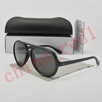 موضة النظارات الشمسية صول العلامة التجارية الجديدة مصمم الضفدع مرآة إطار مزدوجة شعاع 3 لون نظارات شمس رجل إمرأة زجاج عدسة UV400 مع مربع وحالة
