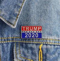 금속 배지 트럼프 2020 에나멜 핀 미국 대통령 공화당 캠페인 정치 브로치 코트 보석 브로치 선물 T142