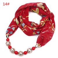 Lenços pendente para mulheres de Moda de Nova Mulheres Turban Alta Qualidade Resina Beads Multicolor Flower Chiffon muçulmanos Scarf Wraps