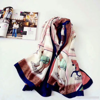 New arrival High quality 100% silk scarf print horse Pattern...