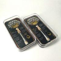 Scatola di imballaggio Brass Knuckles cartucce Pyrex Vetro .5ml 1ml Oro BUD tocco Spesso Olio Atomizer 92a3 Vape Pen serbatoio punta in metallo con logo