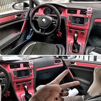 الداخلية الرياضة الأحمر الكربون حماية الألياف ملصقات الشارات FIBRA السيارات السيارات التصميم لشركة فولكس فاجن فولكس واجن جولف GTI 7 MK7 اكسسوارات