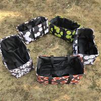 سلة الغسيل حقيبة البيسبول كرة القدم طباعة حقيبة التخزين متعددة الوظائف متفرقات ملابس داخلية القماش لعبة تخزين مربع قابلة للطي الغسيل Oragnier E22706