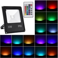 110V 30W 50W LED Floodlights Lighting Outdoor Waterproof Color RGB Projection Lamp For Lamps