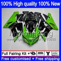 Kropp för Kawasaki ZX-600 ZX 6R 600c 6 R ZX636 2005 2006 Försäljning Svart Grön 210MY.7 ZX-636 600 CC ZX6R 05 06 ZX600 ZX 636 ZX-6R 05 06 FAIRING