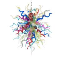 터키 펜 던 트 램프 샹들리에 조명 LED 가벼운 손으로 날아 컬러 유리 샹들리에 로비 입구 예술 장식 베네치아 펜던트 - 조명