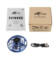 Flynova UFO Fidget Spinner Brinquedo Crianças Voando 360 ° Girando Shinning LED Luzes Release Xmas Brinquedo De Brinquedo Presente Drop Drop In stock