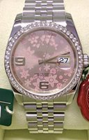 Topselling Lady Mode Montre Datejust 36mm Diamond Bezel 2020 acier inoxydable Cadran ROSE FLOWER Femmes Mouvement automatique Watch48bc #