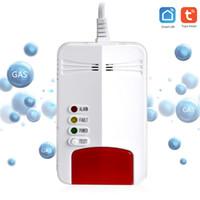 Easy Install Smart Home Tuya App Fjärrkontroll WiFi Gas läckage sensor detektor gas läckage larm instrument