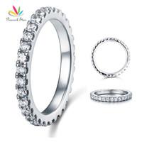الطاووس ستار الخلود الصلبة 925 فضة خاتم الزواج التراص مجوهرات Cfr8045 J190714