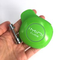 Cartuccia originale imini Cube Vape Penna vaporizzatore 550mAh Preriscaldamento controllo tensione Scatola batteria MOD con 1 ml di olio di vetro denso Atomizzatori in ceramica