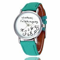 Armbanduhren Folgen Träume Mode Kleid Uhren Männer Frauen Leder-Quarz-Uhr Persönlichkeit beiläufige Weinlese-Uhr Relogio W0691