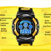 cwp smael kids assiste meninos quartzo relógios de pulso estudante esporte 50m impermeável despertador 0508 crianças led digital
