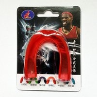 1 Set New Shock Sports Protège-dents Protège-dents Dents Protégez-vous pour Boxe Basketball Top Grade Gum Shield