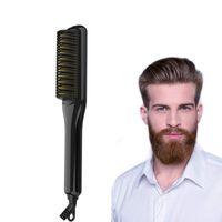أمشاط تصفيف الشعر متعددة الوظائف الرجال النساء مستقيم الشعر مشط مشط اللحية أدوات تصفيف الشعر استقامة فرشاة مشط كهربائي للجمال