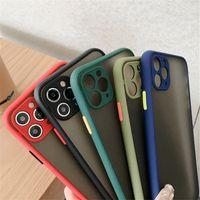 surface mat dur Téléphone Housse de protection pour Huawei P40 P30 P20 Pro pour iPhone 11 Pro Max de protection anti-choc de la caméra anti-rayures