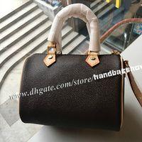 Высокое качество 16 см Мини Бостон сумочка женская Desinger Nano сумка Леди сумки с поясом 61252