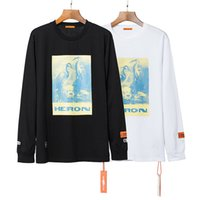 Langarm Heron Preston T-Shirt Männer Frauen Hellblau Heron Preston Top T-Shirt Mode lässig Heron Preston T-Shirt