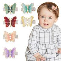 Ins travail manuel papillon Filles Cheveux clips mignon perle filles barrettes designer cheveux clips bébé BB clip Fille Cheveux Accessoires