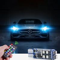 T10 W5W светодиодные автомобильные лампы RGB свет с пультом дистанционного управления 194 168 стробоскоп чтение Клин атмосфера огни 12 В Декоративная лампа Ford BMW VW