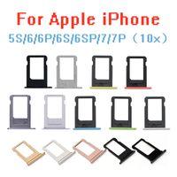 10PCS / الكثير الأصلي بطاقة SIM صينية فتحة حامل ل iPhone 5S / 6 / 6S / 6P / 6S + / 7 / 7P SIM حامل فتحة علبة محول الحاويات