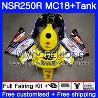 Körper für Honda NSR 250 R MC18 PGM2 NSR 250R NS250 NSR250R 88 89 262HM.3 MC16 NSR250 RR RR NSR250RR 1988 1989 88 89 Verkleidung gelb weiß heiß