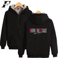 2018 BTS BURN THE STAGE Thicken Zipper Hoodies Sweatshirts W...