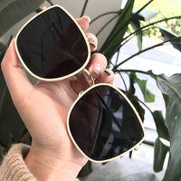 Marke Retro Steampunk Rahmen Metall-Platz Mode Sonnenbrillen Männer Alle Schwarz übergroßen großen Sonnebrillen für Männer Frauen Sonnegläser 50PCS DHL