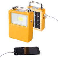 Bewegliche LED Wiederaufladbare Arbeitsleuchte Solar-Arbeiten im Freien Notlicht 10W Flut-Licht für den Notfall Camping Wandern Angeln