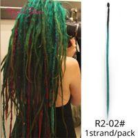 Rabo de cavalo extensões de cabelo Handmade Dreadlocks Synthetic Hair Extensions Crochet Braid 1Strand para mulheres e homens de 20 polegadas moda 2020