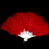 HOT 우아한 깃털 팬 할로윈 장식 파티 무대 소품 공연 접는 팬 크리스마스 할로윈 파티 용품 손 fanT2I5325