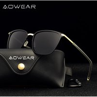 AOWEAR Ladies Square Sunglasses Women Polarized Uv400 Occhiali da sole vintage di alta qualità 2018 Fashion Driving Shade Mirror Glasses