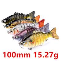 5 مختلط اللون 100MM 15.27g متعدد قسم الصيد هوكس الخطافات 6 # هوك الطعوم الثابت السحر ب-003