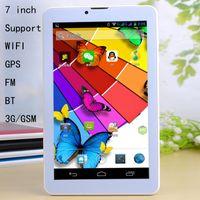 ENFANTS 7 pouces 3G phablet Android 4.4 MTK6572 Dual Core cadencé à 1,5 GHz 512 Mo de RAM 4 Go ROM 1G RAM ROM 3G 8G Téléphone Appel GPS Bluetooth double caméra WIFI