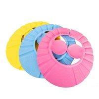 Мода Регулируемого душ крышка защищает шампунь для малыша дети ребенка здоровья купания ребенка мыть волосы Shield Hat