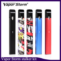 Аутентичные Vapor Storm Stalker Kit E Сигареты Наборы Vape Pen 400 мАч Батарея 1,8 мл Многоразовые картриджи Vape 7 цветов 0268113-1