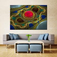 Forbeauty Lienzo Pintura Arte de la pared globos_colorido_abstracto_fractal Impresión en aerosol Tinta impermeable Decoración para el hogar