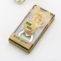 Yaratıcı Altın Bira Şişe Açacağı Düğün eşyalar Taç Şeklinde Şişe Açıcı Doğum Yıldönümü Hediyesi İçin Misafir RRA2859