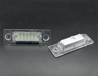 1 пара номерной знак свет лампы 18-LED для VW / Caddy / Transporter / Passat / Golf / Touran / Jetta Для Skoda Нет ошибок