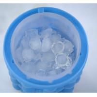 100 pcs Cube Ice Cuby Cavity Bandeja de Silicone Cubos de Gelo Maker Space Scaving Ice Cube Maker Ferramenta Azul Cor 13 * 14cm