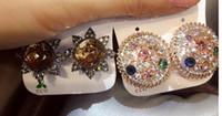 Maravilloso al por mayor de moda vendedor caliente 10 unids / lote precio bajo de alta calidad diamante 925 plata dama pendientes 9.4kkjk