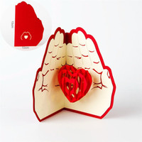 Creative 3D Heart Greeting Cards Best Mother' s Day Gift...