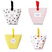 Square Bottom Gift Packs Dots Stripes Lattice mini Candy Box...