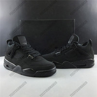 2020 Jumpman 4s Shoes Black Cat Man Basquetebol 4 OG criados com OG esperado para retornar couro real Outdoor Sneakers Com Box CU1110-010