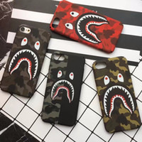 Camouflage Shark Hülle für iPhone 6 6S 7 8 plus X XS XR MAX Berühmte Luxus-Handyhülle für Galaxy S10 S10 E S9 S8 Plus Note 8 PC Hard Cover