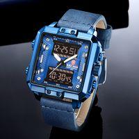 KADEMAN Homens de Negócios Assista cinta de couro relógio de pulso de quartzo Sports Warch por Homens Relogio Masculino K6153
