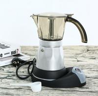 6cups / 300ml elektrische Kaffeemaschine Aluminium Material Kaffee-Töpfe Moka Pot Mokka Kaffee-Maschine v60 Kaffee-Filter Espressomaschine NEU